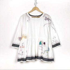 Holding Horses World Traveler Embroidered Top